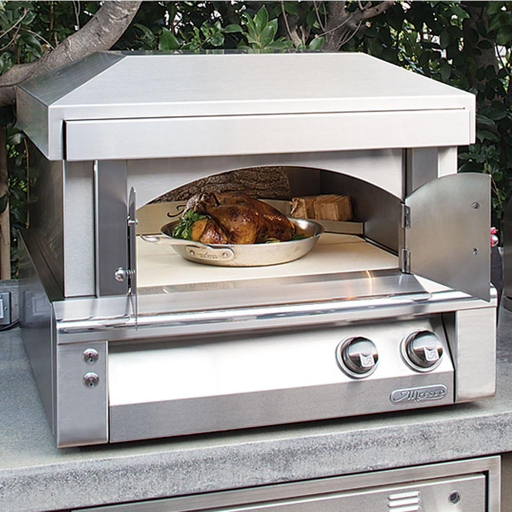 Alfresco 30-Inch Countertop Natural Gas Outdoor Pizza Oven