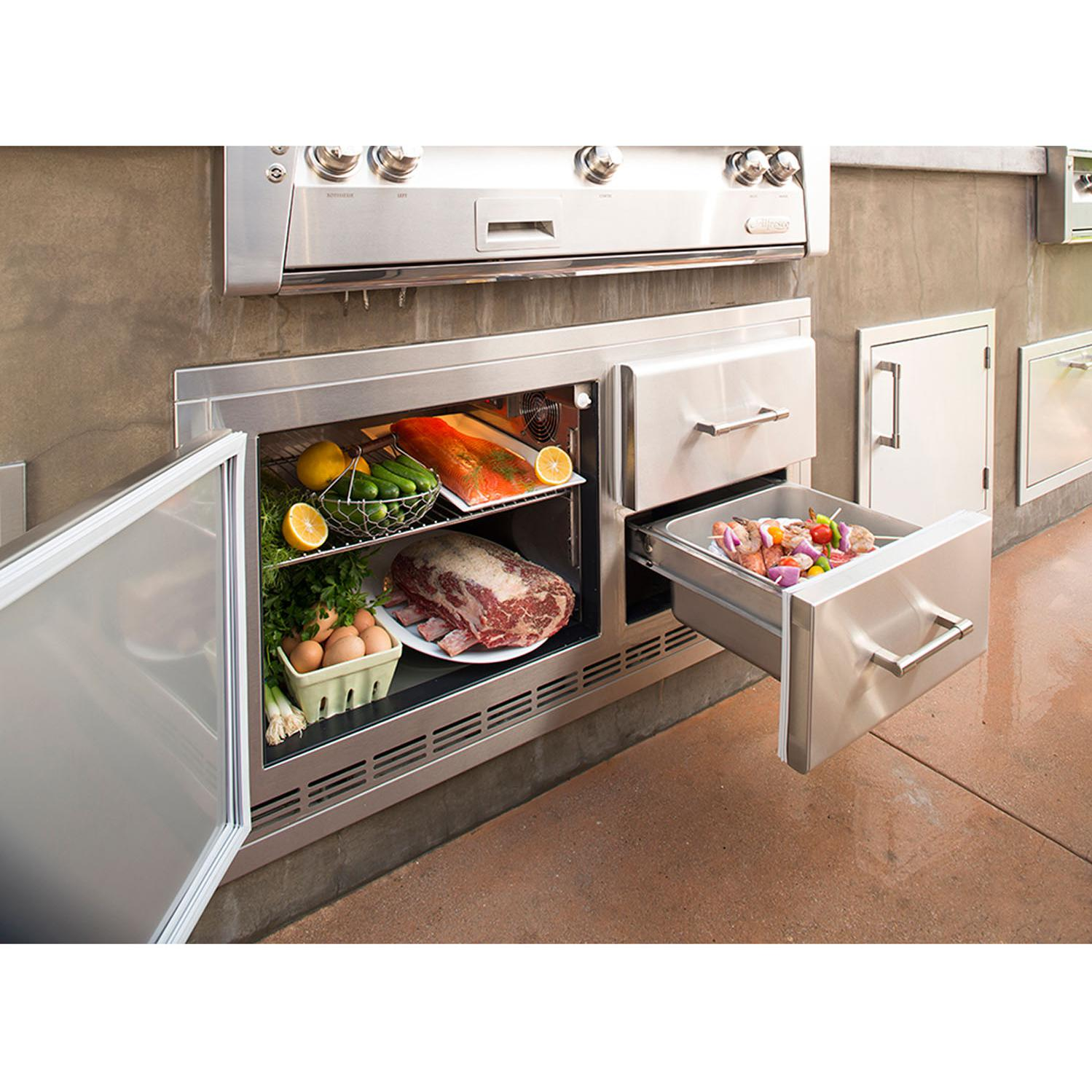 Alfresco 42-Inch Under Grill Refrigerator