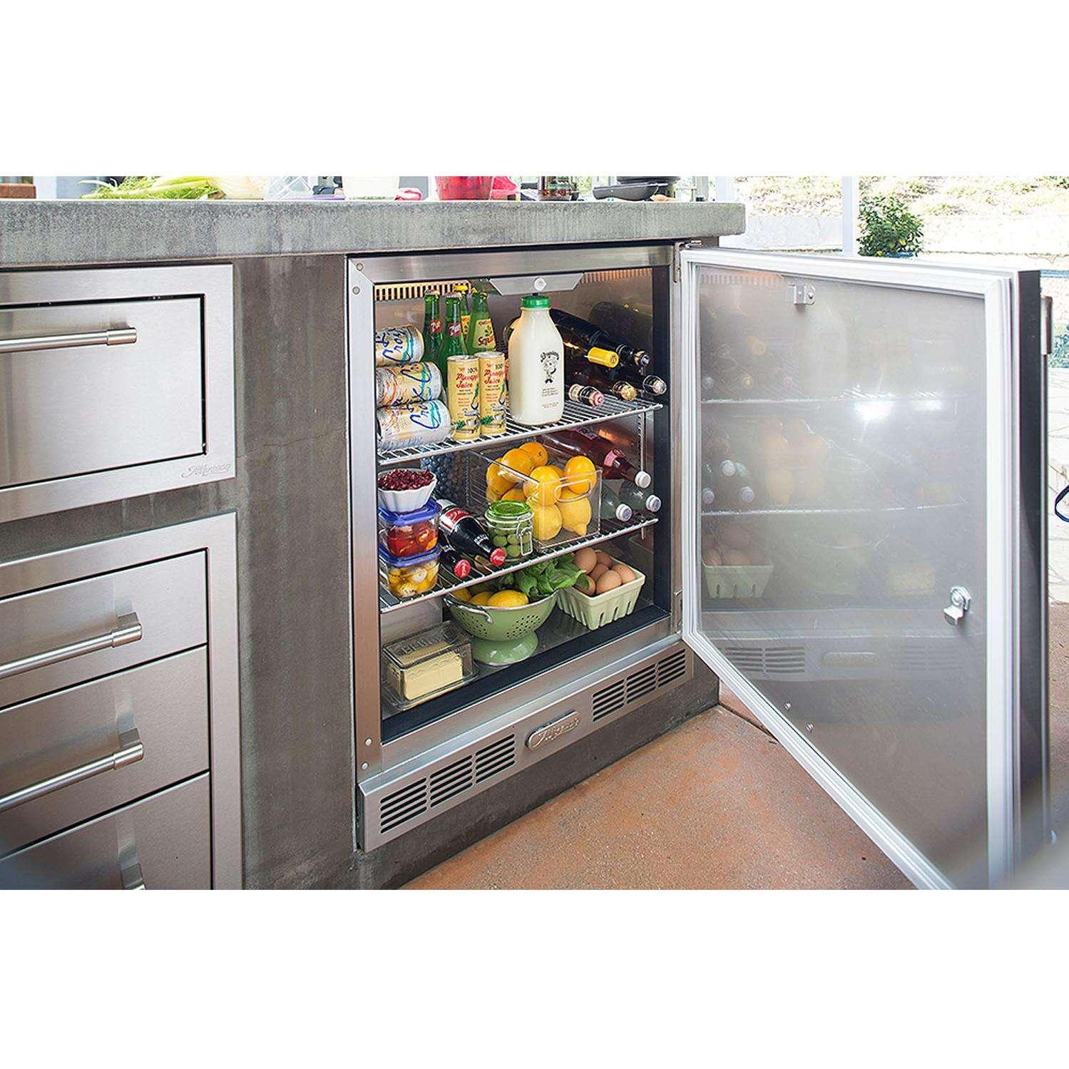 Alfresco 7.25 Cu. Ft. Single Door Refrigerator - Built In