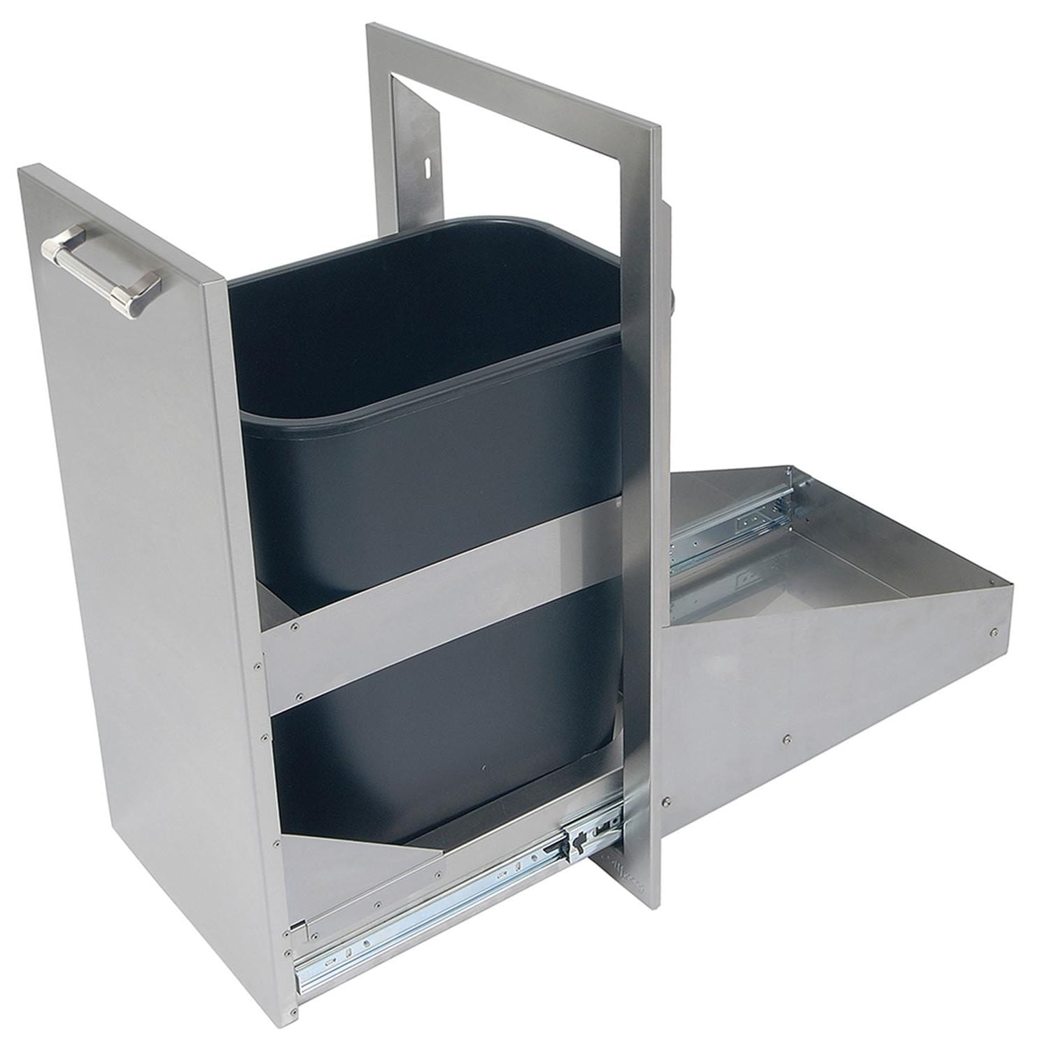 Alfresco 15-Inch Roll-Out Trash Center - Open Door