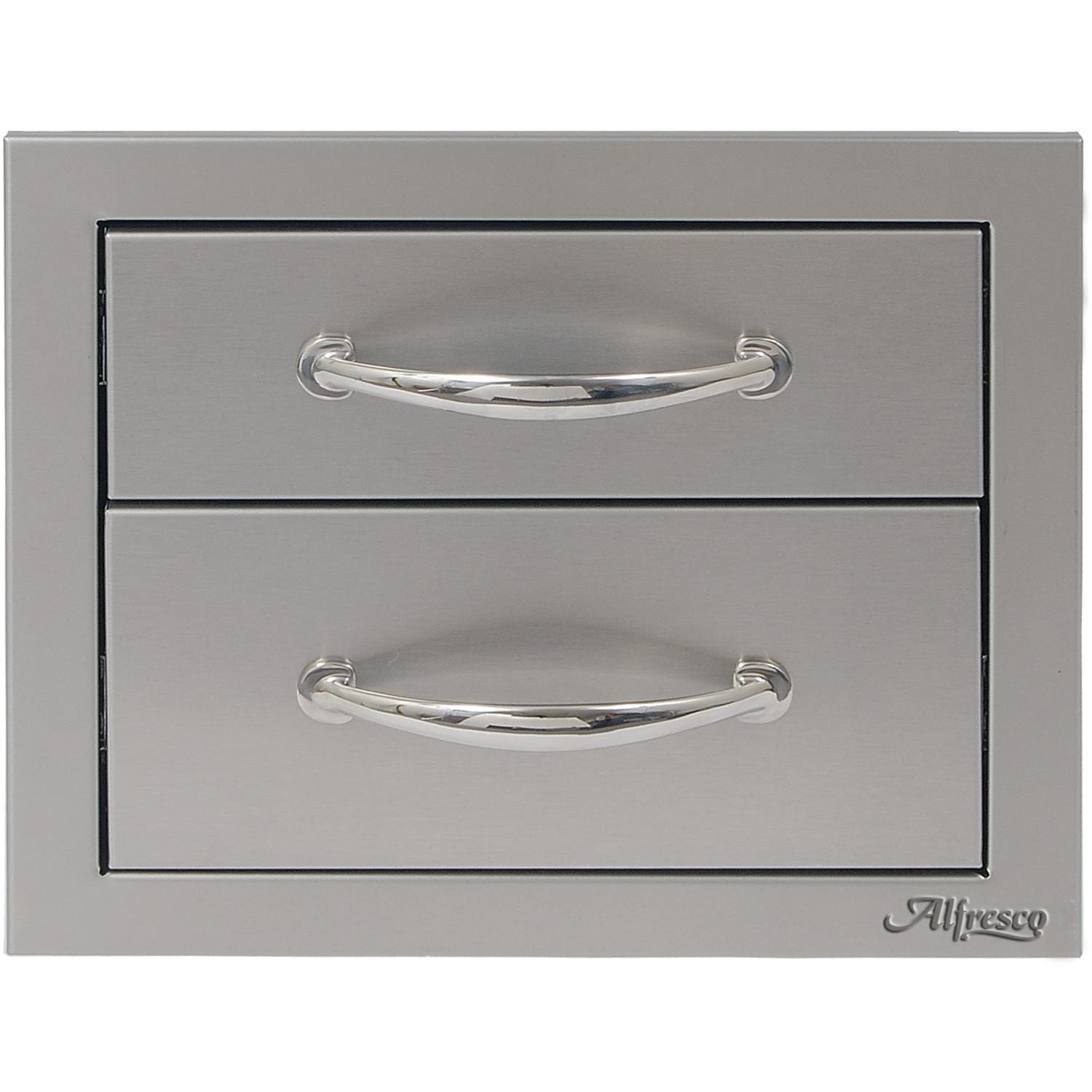 Alfresco 17-Inch Round Handle Double Access Drawer