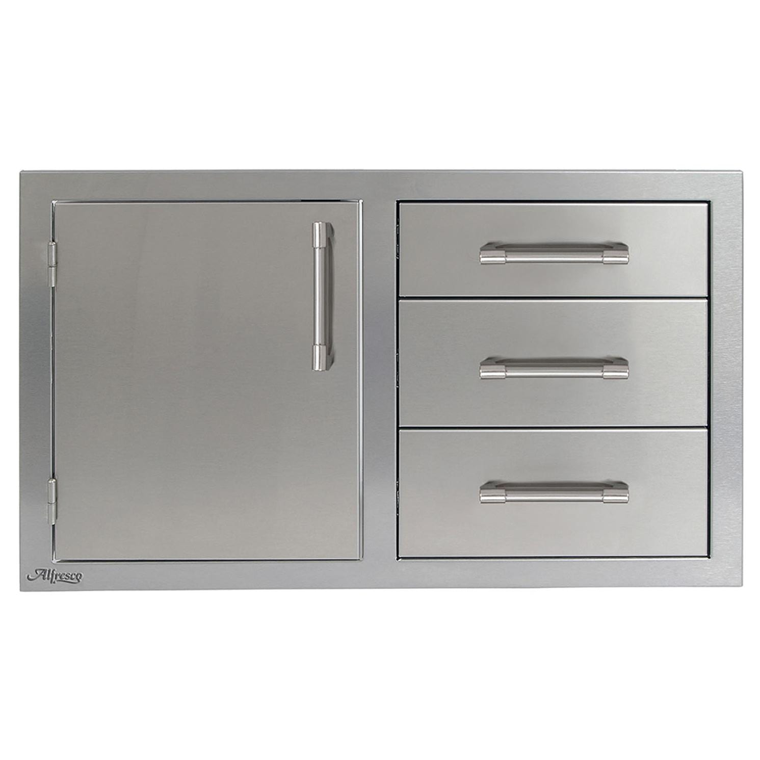 Alfresco 32-Inch Door and Triple Drawer Combo