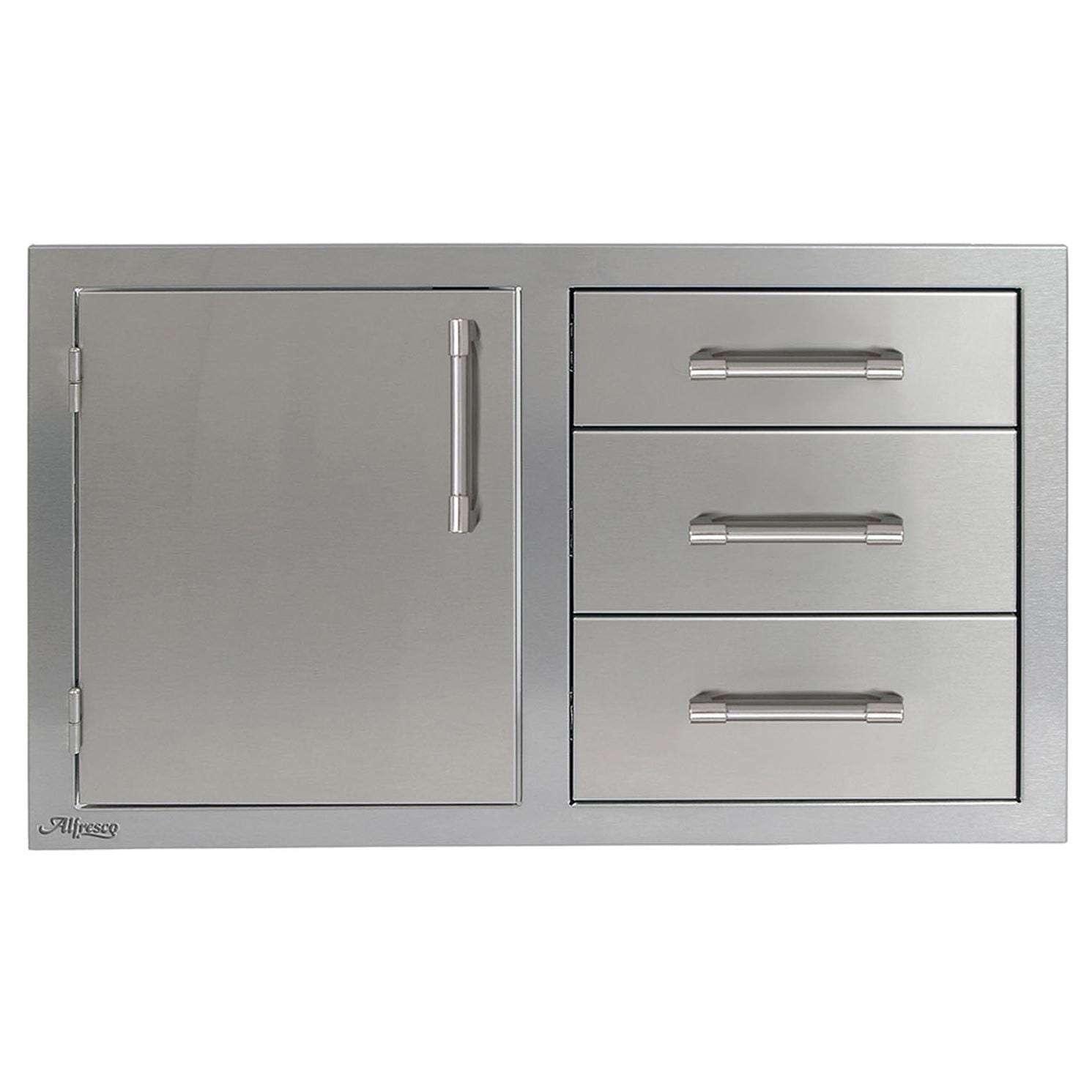 Alfresco 32-Inch Door and Triple Drawer Combo