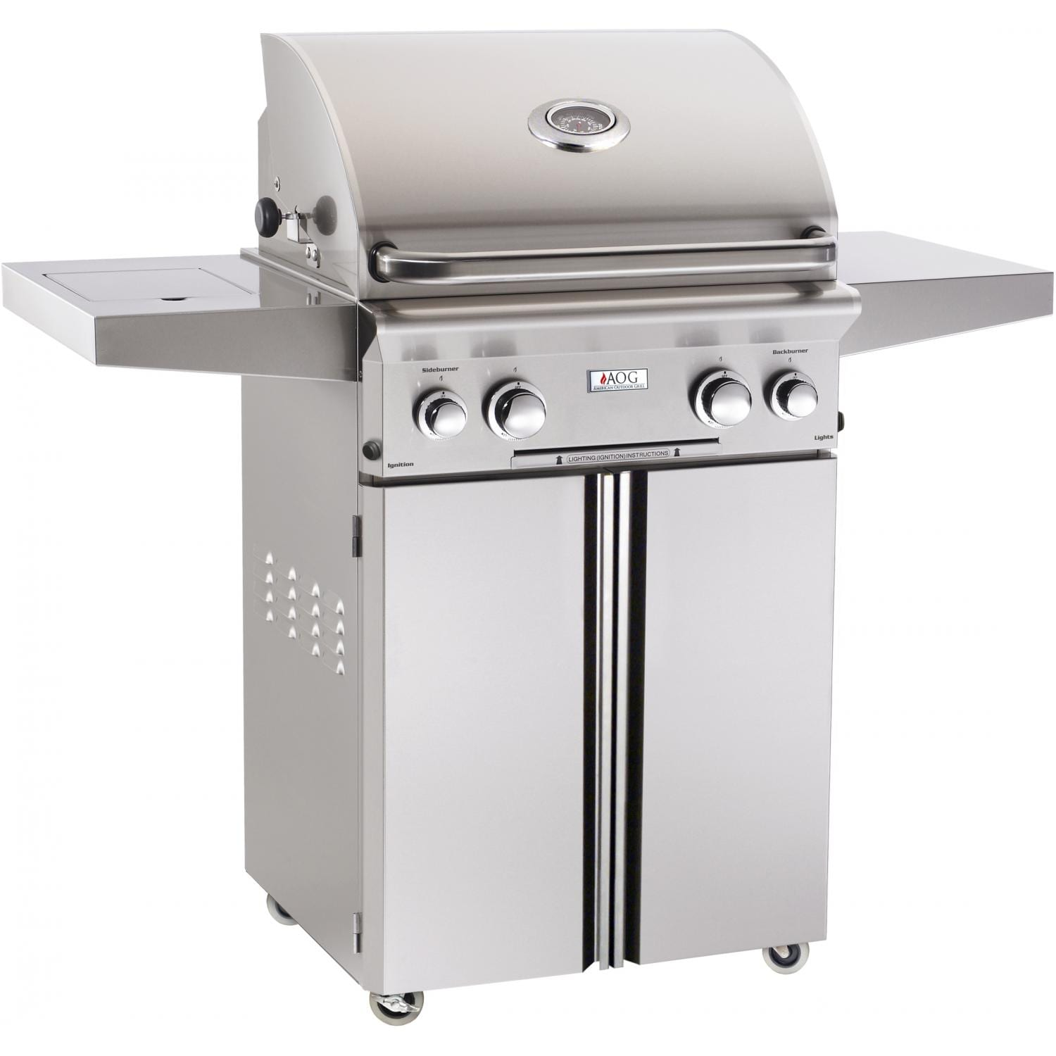 American Outdoor Grill 24-Inch Grill Plus Rotisserie Plus Side Burner