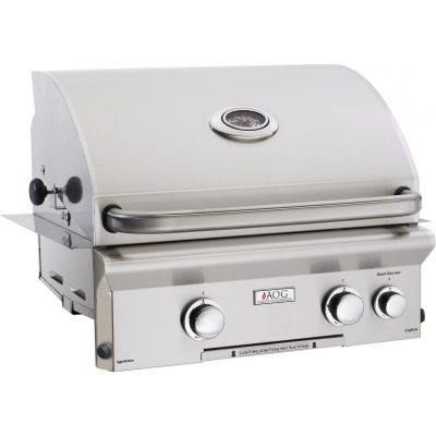 American Outdoor Grill L-Series 24-Inch 2-Burner Built-In Natural Gas Grill With Rotisserie - 24NBL