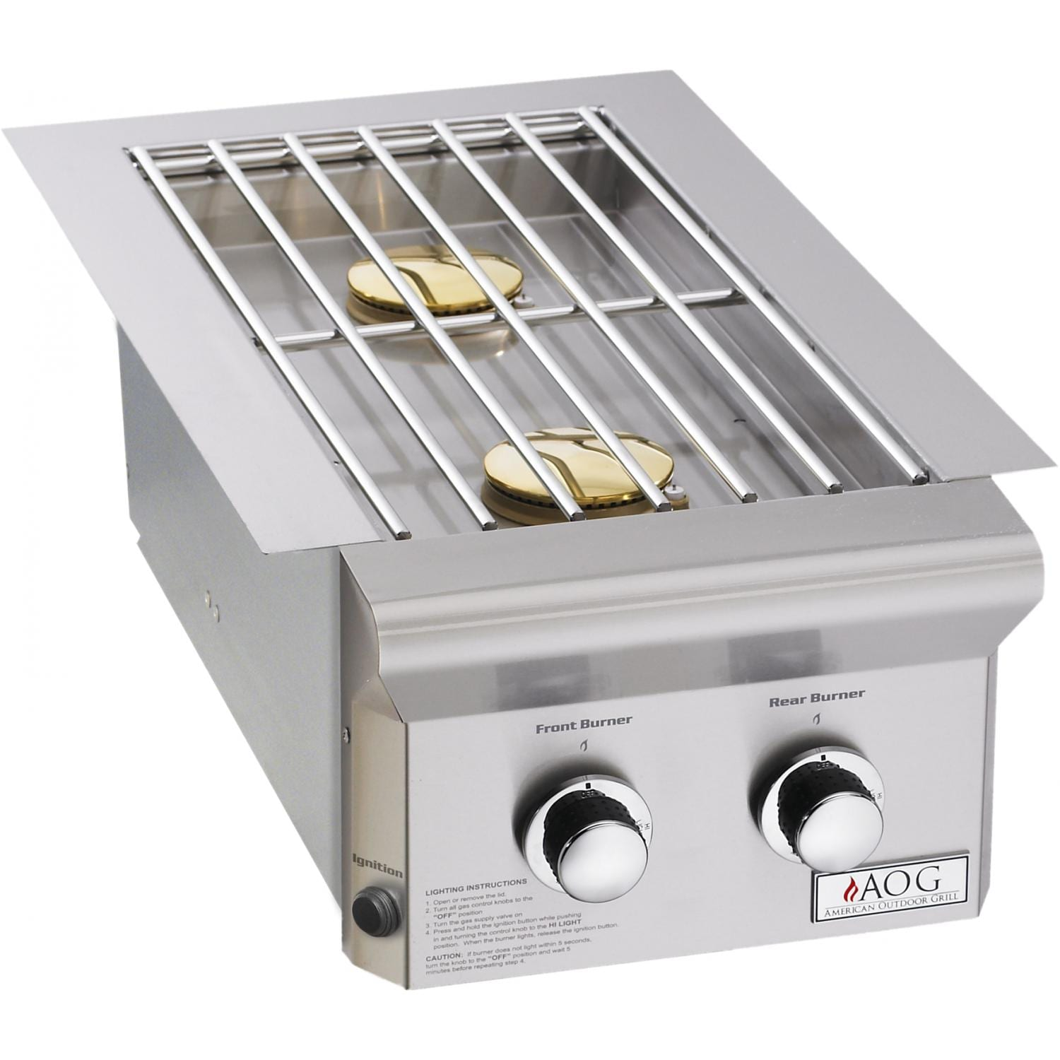 American Outdoor Grill L-Series Propane Gas Double Side Burner