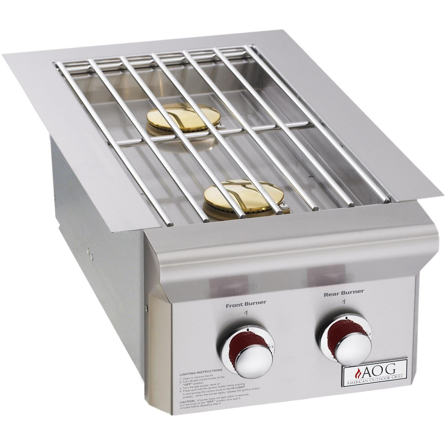 American Outdoor Grill T-Series Propane Gas Double Side Burner