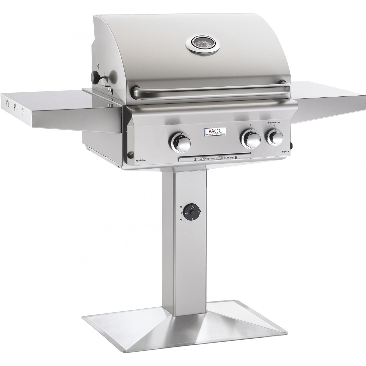 American Outdoor Grill L-Series 24-Inch 2-Burner Gas Grill Plus Rotisserie