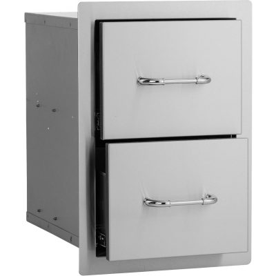 Bull 15-Stainless Steel Double Access Drawer - 56985