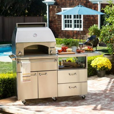 Lynx Professional Napoli 30-Inch Propane Gas Pizza Oven On Cart