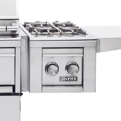 Lynx Cart Mounted Propane Gas Double Side Burner - LCB2-3-LP