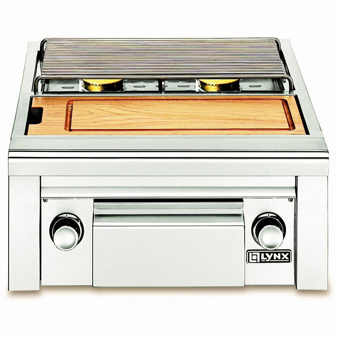 Lynx Double Side Burner - Built-In Propane Gas Side By Side With Prep Center LSB2PC-1-LP
