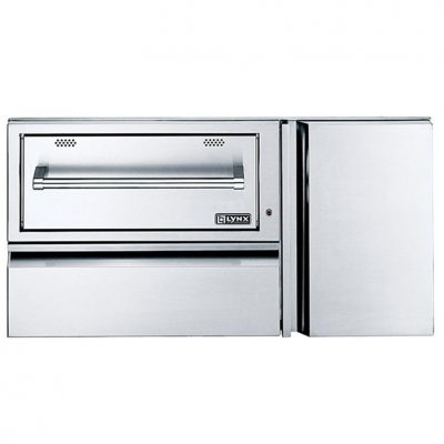Lynx 42-Inch Built-In Convenience Center With 120V Electric Warming Drawer & Propane Tank Storage - L42CC-1