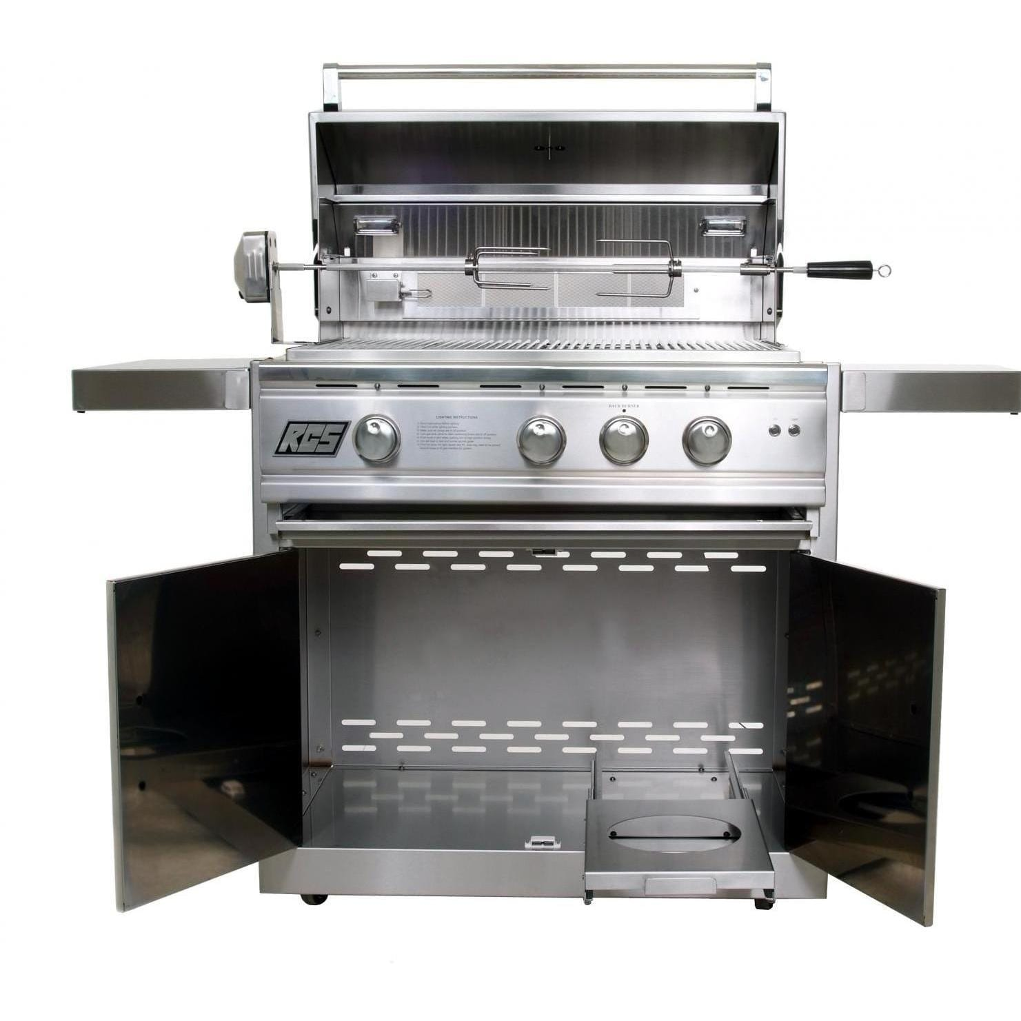 RCS Cutlass Pro 30-Inch Natural Gas Freestanding Grill - RON30A-NG + RONMC