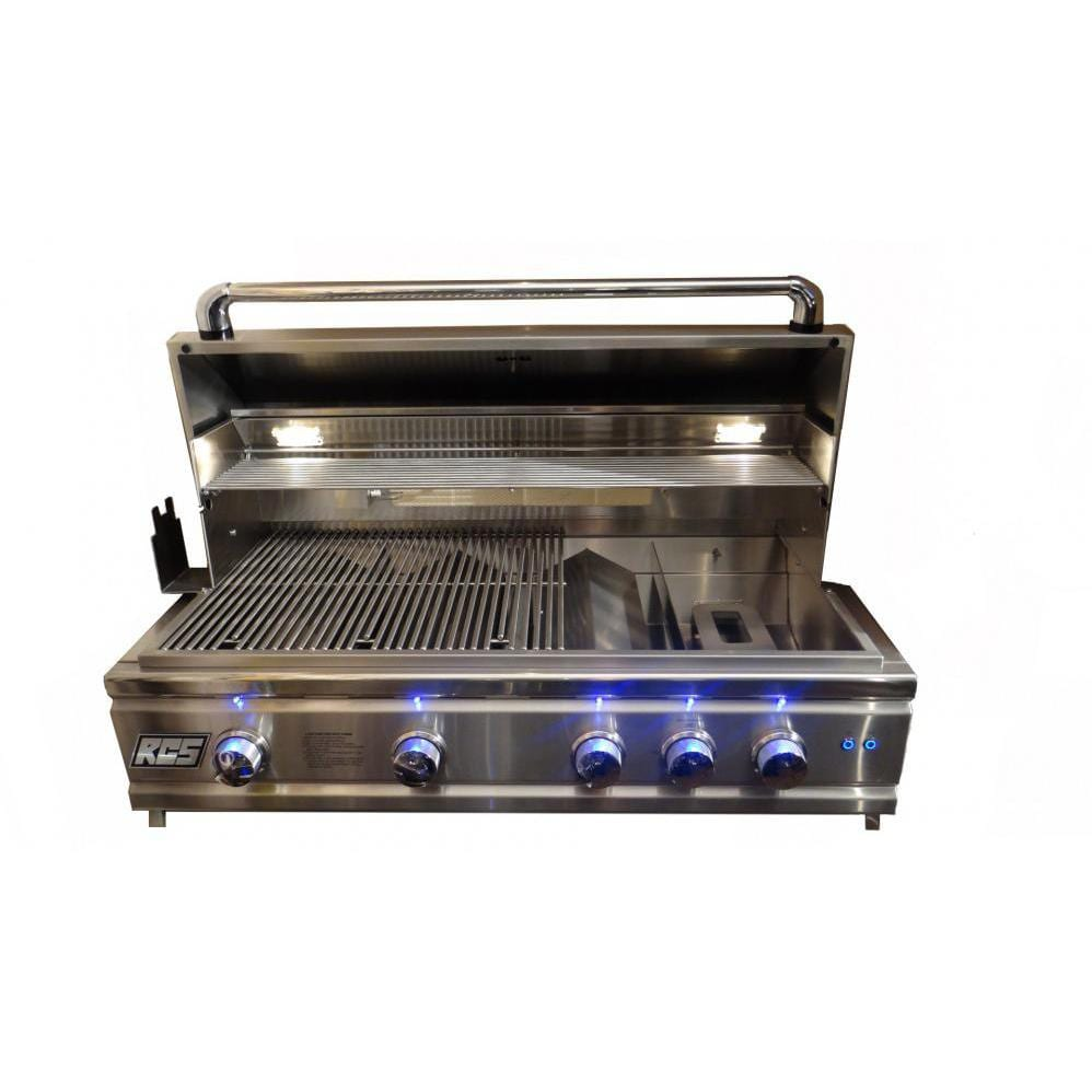 RCS Cutlass Pro 38-Inch Built-In Gas Grill - Hood Open