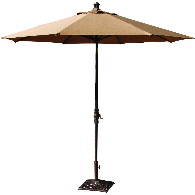 Darlee 9 Ft Aluminum Auto Tilt Patio Market Umbrella
