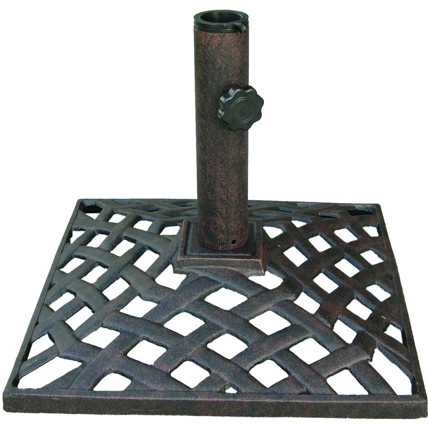 Darlee Basket Weave Cast Iron Patio Umbrella Base - Darlee Basket Weave Cast Iron Patio Umbrella Base The Outdoor Store
