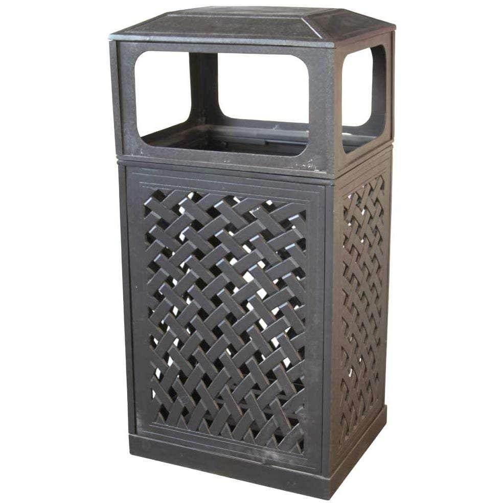Superbe Darlee Cast Aluminum Patio Trash Receptacle
