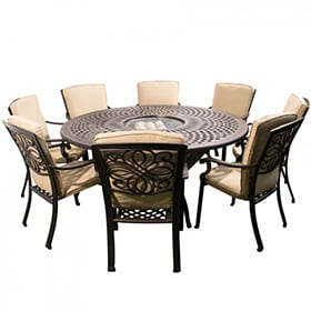 Darlee Fire Pit Patio Sets