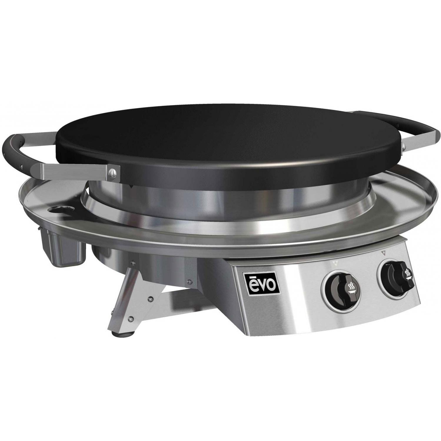 Evo Professional Classic Tabletop Flattop Propane Gas Grill With Ceramic Cooking Surface