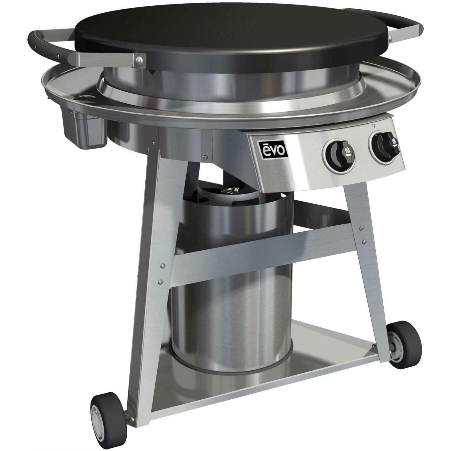 Evo Professional Wheeled Cart 30-Inch Coated Flat-Top Gas Grill