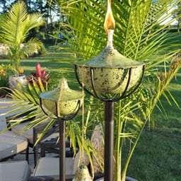 Starlite Patio Maui Grande Earth Tone Garden Torches