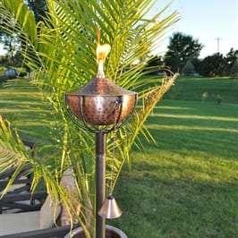 Starlite Patio Maui Grande Hammered Bronze Garden Torches