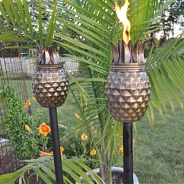 Starlite Patio Pineapple Antique Finish Garden Torches