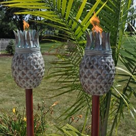 Starlite Patio Pineapple Weathered Patina Garden Torches