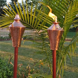 Starlite Patio Kona Deluxe Hammered Copper Garden Torches