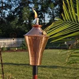 Starlite Patio Kona Deluxe Smooth Copper Garden Torches