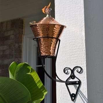 Starlite Patio Kona Hammered Copper Sconce Torches