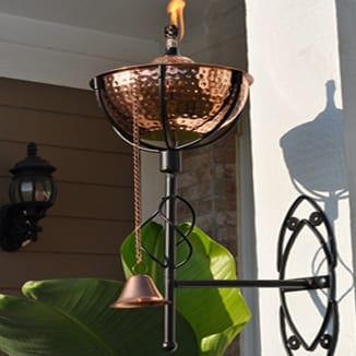 Starlite Patio Maui Grande Hammered Copper Sconce Torches