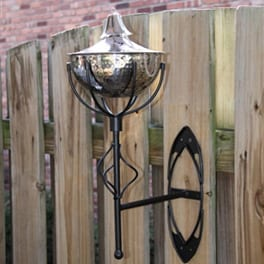 Starlite Patio Maui Grande Sconce Torches - Set of 2 - Hammered Nickel
