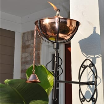 Starlite Patio Maui Grande Smooth Copper Sconce Torches