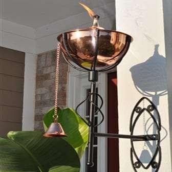 Starlite Patio Maui Grande Smooth Copper Sconce Torches