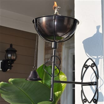 Starlite Patio Maui Grande Brown Patina Sconce Torches