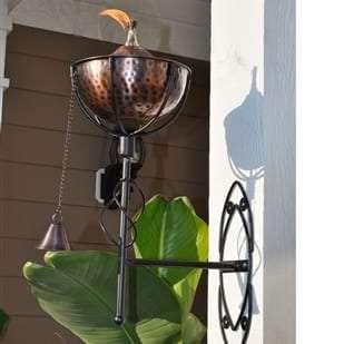 Starlite Patio Maui Grande Hammered Bronze Sconce Torches