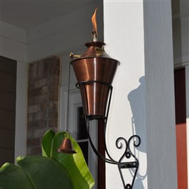 Starlite Patio Kona Deluxe Copper Burn Sconce Torches