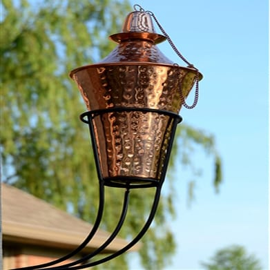 Starlite Patio 2 Pack Kona Deluxe Sconce Torches in Hammered Copper