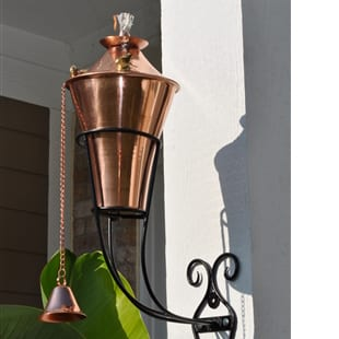 Starlite Patio Kona Deluxe Smooth Copper Sconce Torches