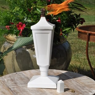 Starlite Patio Crater White Classic Tabletop Torch