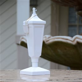 Starlite Patio Classic Tabletop Torch in Crater White