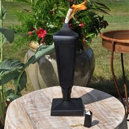 Starlite Patio Textured Black Classic Tabletop Torch
