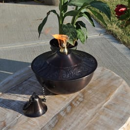 Starlite Patio Maui Grande Brown Patina Tabletop Torch