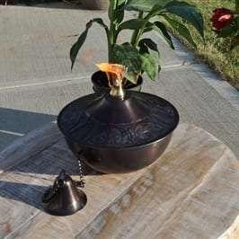Starlite Patio Maui Grande Brown Patina Tabletop Torch