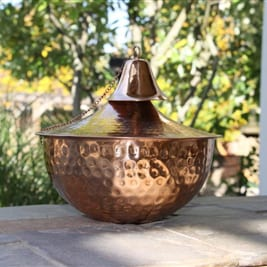 Starlite Patio Maui Grande Hammered Copper Tabletop Torch