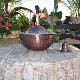 Starlite Patio Maui Grande Hammered Bronze Tabletop Torch