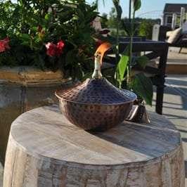 Starlite Patio Maui Gande Tabletop Torch in Hammered Bronze