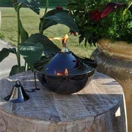 Starlite Patio Maui Gande Tabletop Torch in Black Nickel